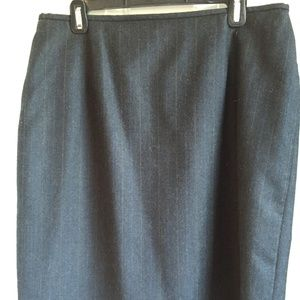 Ralph Lauren Pencil Skirt - Grey Pinstripe